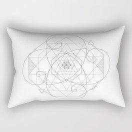Fibonacci Geometric Mandala Rectangular Pillow