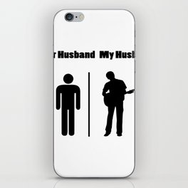 My Husband Love Guitar - Guitar Player iPhone Skin