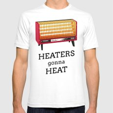 Heaters gonna heat White SMALL Mens Fitted Tee