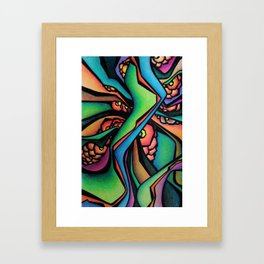 Abstract Intertwining green Framed Art Print