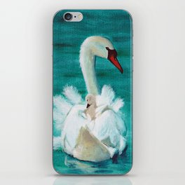 Swan mother iPhone Skin
