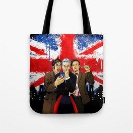 British Tardis Selfie Tote Bag