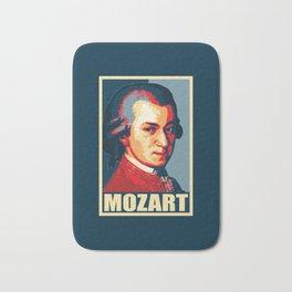 Mozart Propaganda Poster Pop Art Bath Mat