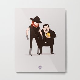 The Undertaker & Paul Bearer - Pro Wrestling WWE Illustration Metal Print