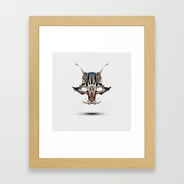 Poly Cat Framed Art Print