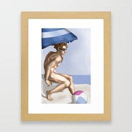 Ignudo sunbathing Framed Art Print