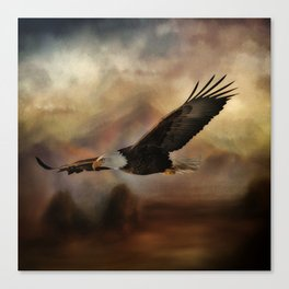 Eagle Flying Free Canvas Print