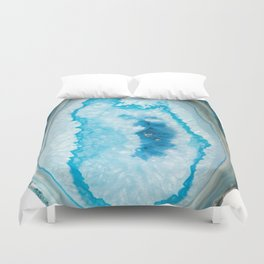 Collapsing blue Agate Duvet Cover