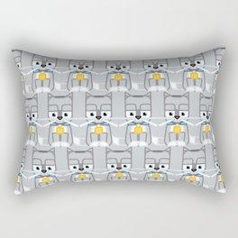 Super cute animals - Cute Kitty Cat Grey Silver Rectangular Pillow