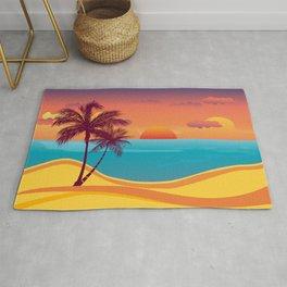 Tropical Beach Sunset Rug