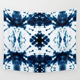 Velvet Shibori Blue Wall Tapestry