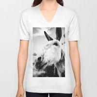 donkey V-neck T-shirts featuring Donkey by Irislynn