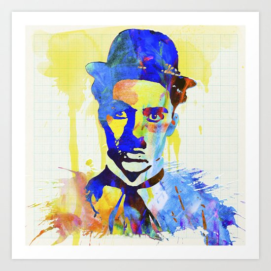 charlie chaplin 04 Art Print