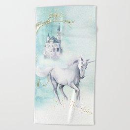 Unicorn magic Beach Towel