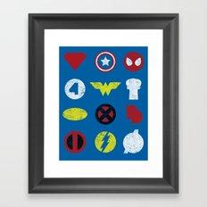 Super Simple Heroes Framed Art Print