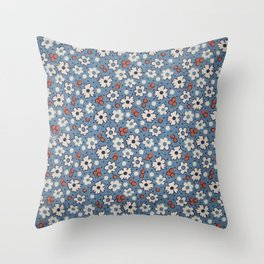Floral Fabric Throw Pillow