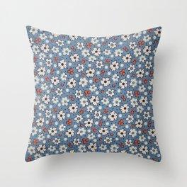 Floral Fabric Throw Pillow