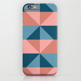 Cast Light in Coral and Blue iPhone Case