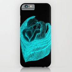 Angels Kissing in green and black design Slim Case iPhone 6s