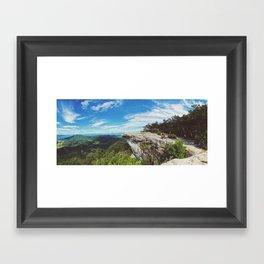McAfee Knob •Appalachian Trail Framed Art Print
