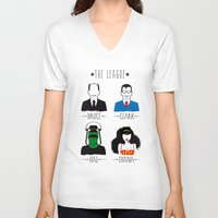 league V-neck T-shirts featuring THE LEAGUE by kravic