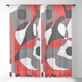 Abstract #855 Sheer Curtain