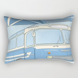 Ikarus 55 blue Rectangular Pillow