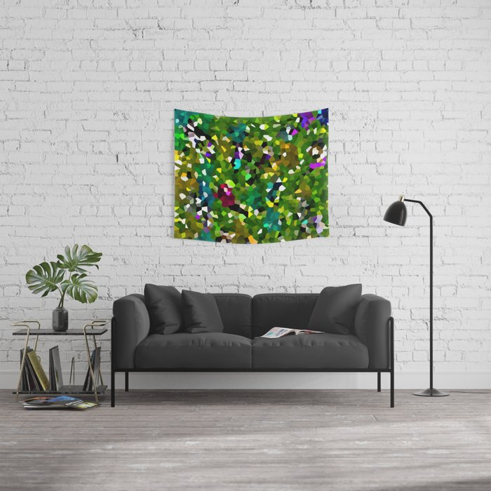 Pineapple Abstract Geometric Wall Tapestry