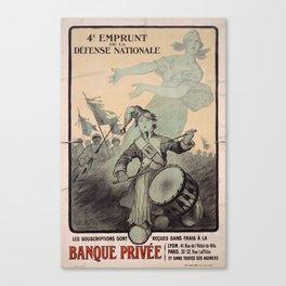 Banque Privee Canvas Print