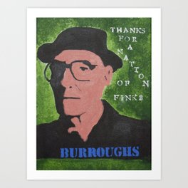 William S. Burroughs Quote Painting Nation of Finks Art Print