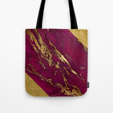 Luxury and glamorous gold glitter and pink marble Tote Bag