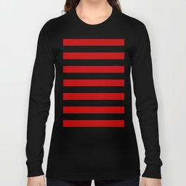 Red Stripes Long Sleeve T-shirt