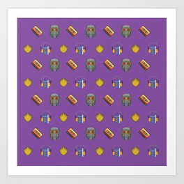 Awesome Mix Vol 1- Space Gem Purple Art Print