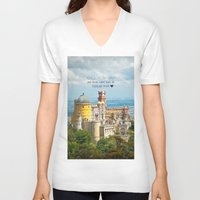 neverland V-neck T-shirts featuring Neverland by Sandy Broenimann