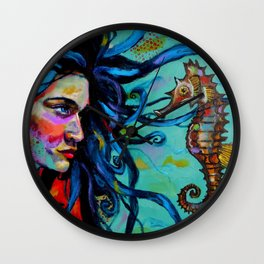 Scarlett and the Seahorse Wall Clock