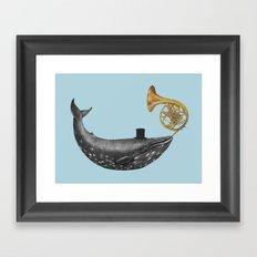 Whale Song - colour option Framed Art Print