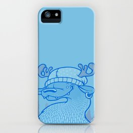 Blue Hairpin iPhone Case