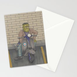 Frankenstein Scooter Stationery Cards