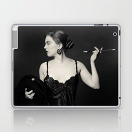 """A Noir Night Out"" - The Playful Pinup - Modern Gothic Twist on Pinup by Maxwell H. Johnson Laptop & iPad Skin"