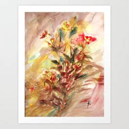 Sensual flower 3 Art Print