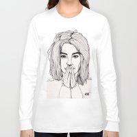 bjork Long Sleeve T-shirts featuring Bjork by Paul Nelson-Esch Art