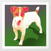 jack russell Art Prints featuring Jack Russell by Ken Surman