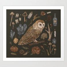 Harvest Owl Art Print