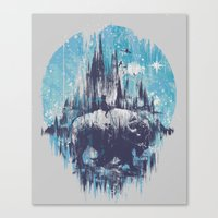 wanderlust Canvas Prints featuring Wanderlust by Robson Borges