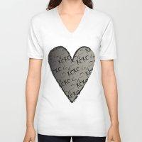xoxo V-neck T-shirts featuring XOXO  by GoAti