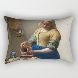 Vermeer - The Milkmaid Rectangular Pillow