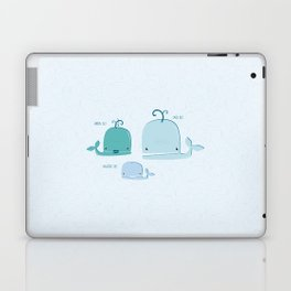 whale family Laptop & iPad Skin