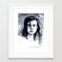 coconutwishes Framed Art Prints featuring Harry Watercolors B/N by Coconut Wishes
