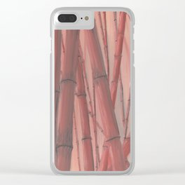 Red bamboo Clear iPhone Case