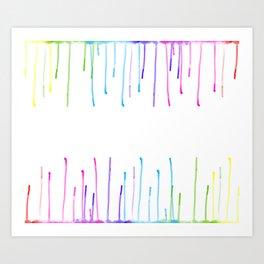 Watercolour drip Art Print